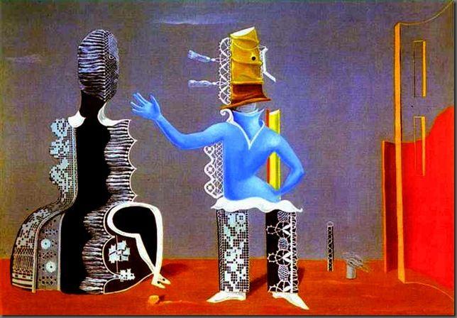 Max Ernst - La pareja o la pareja en el encaje, 1925