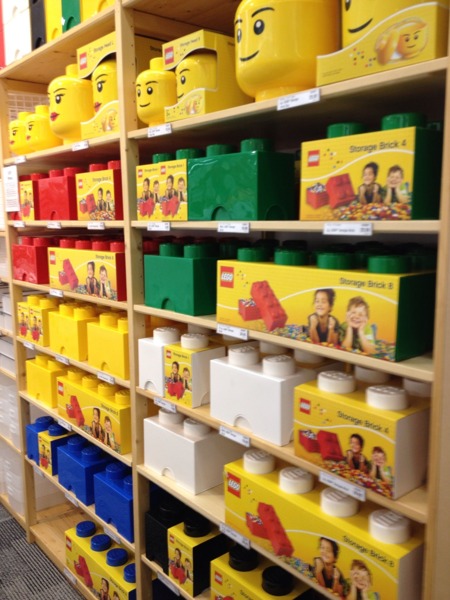Lego storage at Container Store Just cause I like it Pinterest