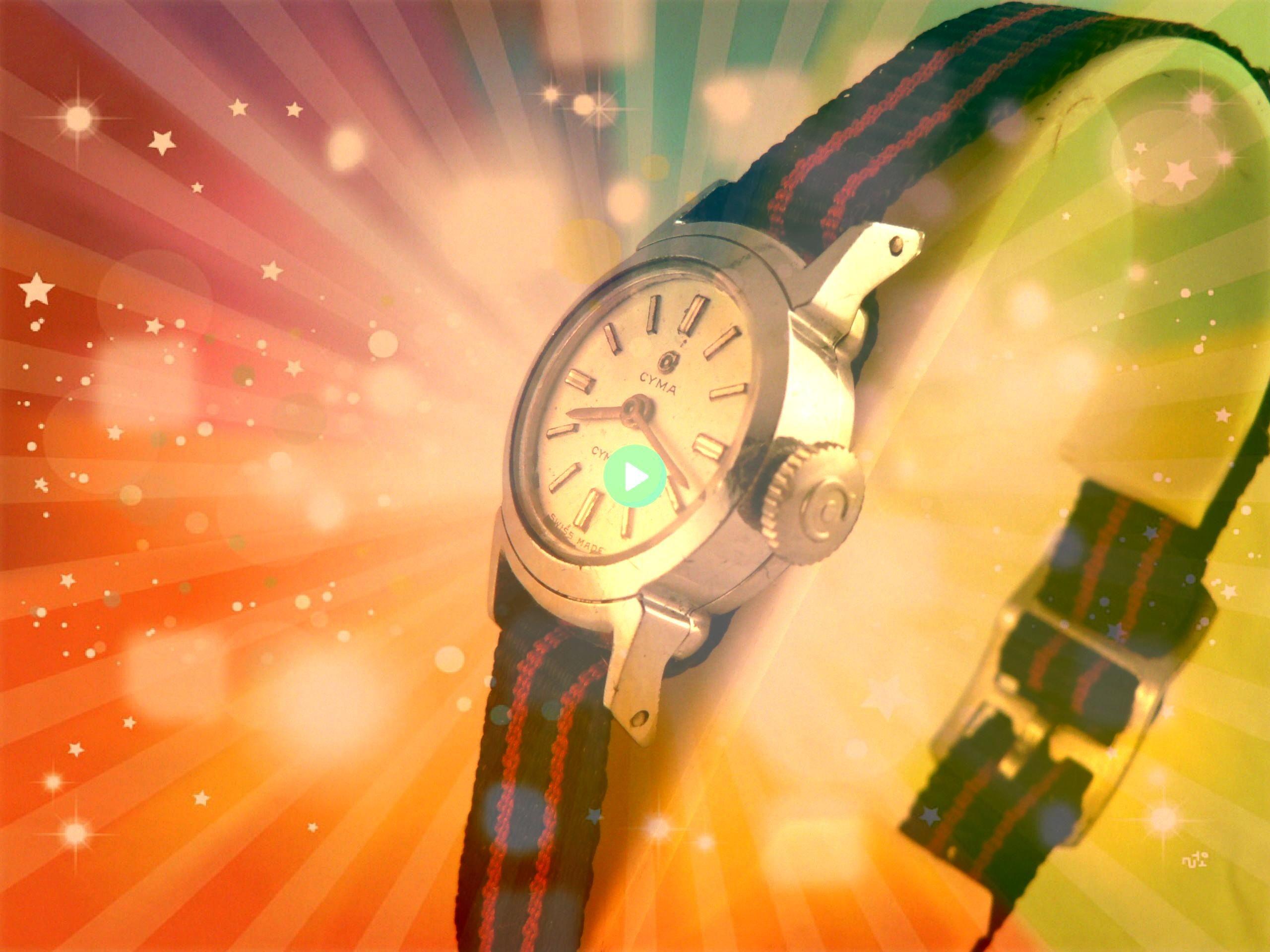 Cyma Cymaflex Wrist Watch 17 J Swiss Made Ca 1950s VintageLadies Cyma Cymaflex Wrist Watch 17 J Swiss Made Ca 1950s Name brand Lightly worn Fossil watch with leather stra...