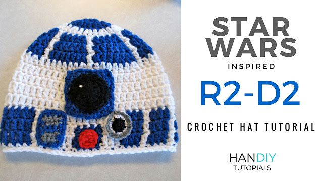R2-D2 crochet hat tutorial free pattern star wars r2d2 | Crochet ...