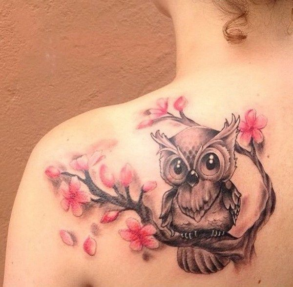 Image Result For Girly Owl Tattoos Tattoos Blossom Tattoo Tattoos For Daughters