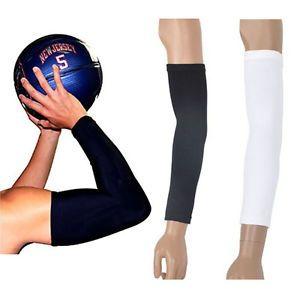 32110318e83f4 1 Pair Arm Sleeve Cover Armband Sport Skins Stretch UV Sun Bike Golf  Basketball | eBay