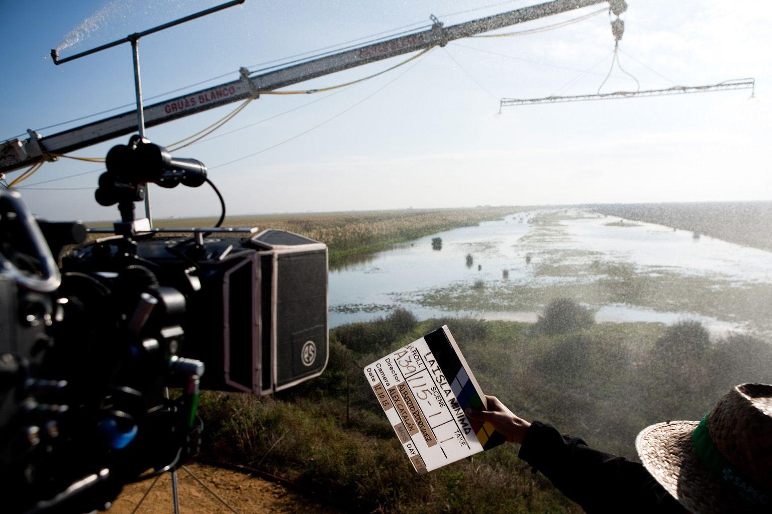 En el rodaje de La Isla Mínima. Una película de Alberto Rodríguez con Raúl Arévalo, Javier Gutiérrez, Antonio de la Torre, Nerea Barros.
