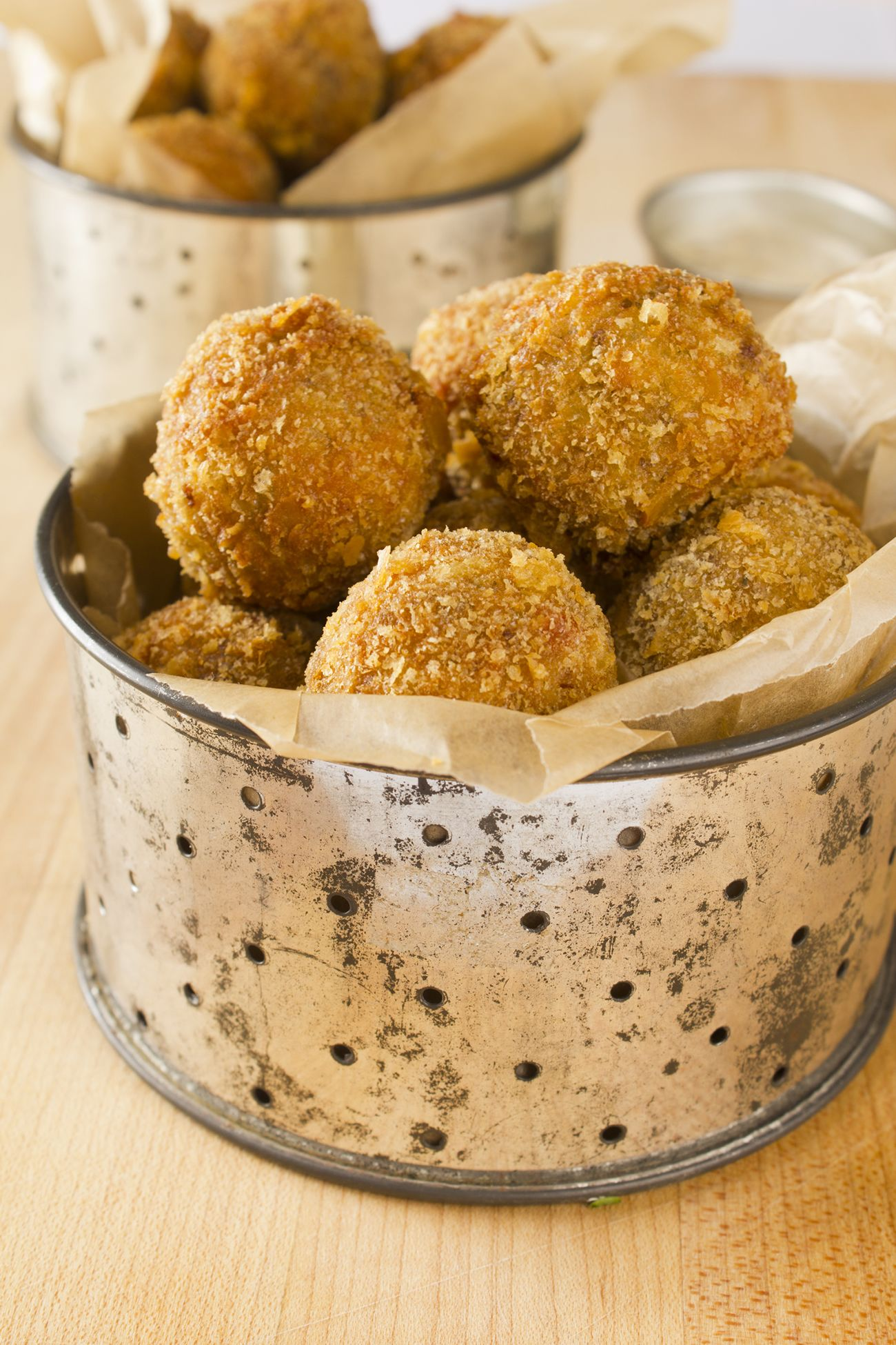 Boudin balls with creole mustard dipping sauce recipe
