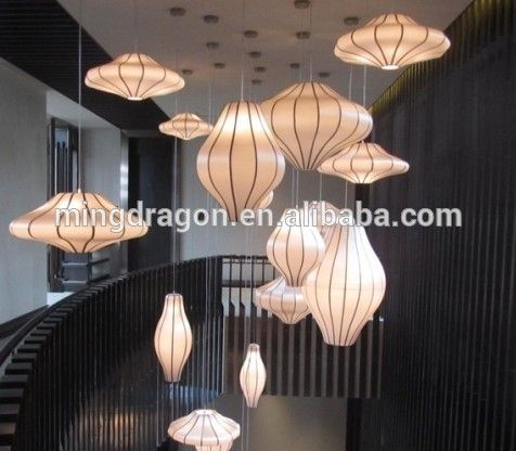 Hanging Chinese Fabric Lantern For Indoor Decoration - Buy Nylon ...