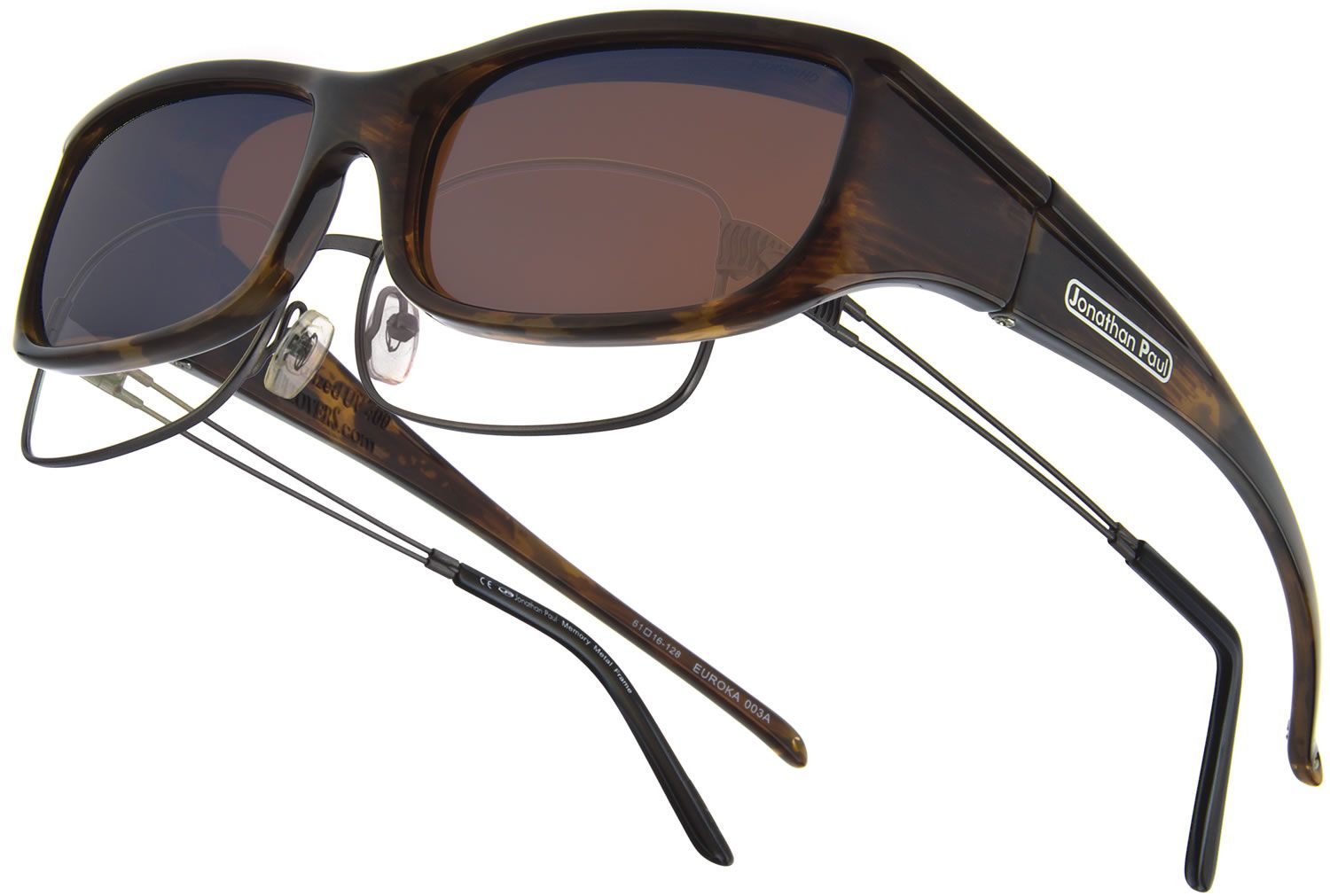 c3c9d4c8f0 Euroka Brown Marble (Polarvue® Amber) fitover sunglasses by Jonathan Paul®  are just as functional but way more fashionable than those bulky generic  brands.