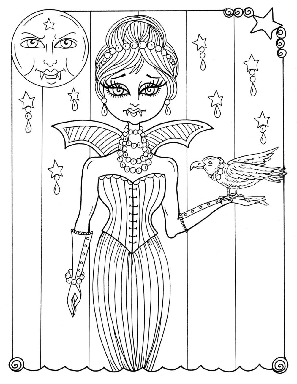 5 pagina's van Vampire Vixens aan Color Instant Download
