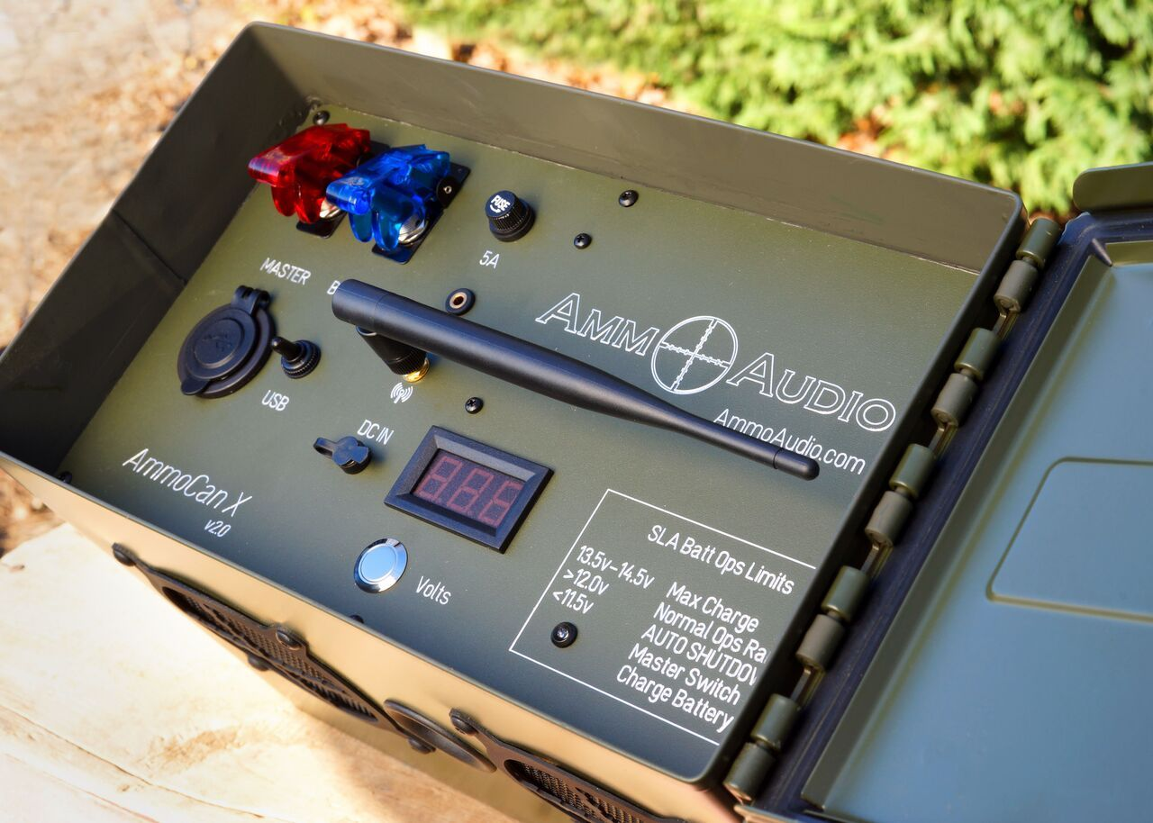 Ammo Can Speakers, Ammo Box Speakers, Military Bluetooth USB