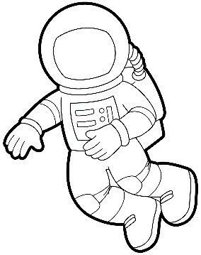 simple astronaut stencil - photo #30