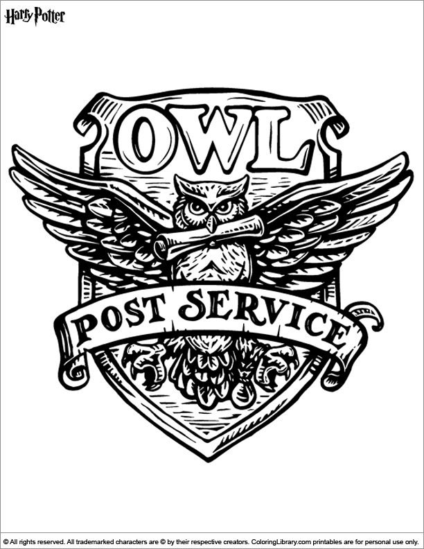 Harry Potter Coloring Page Harry Potter Owl Harry Potter Coloring Pages Harry Potter Printables Free