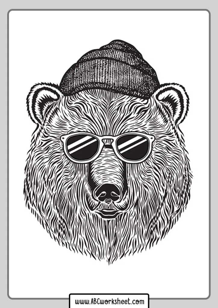 Grizzly Bear Coloring Pages In 2020 Bear Coloring Pages Bear Illustration Animal Coloring Pages