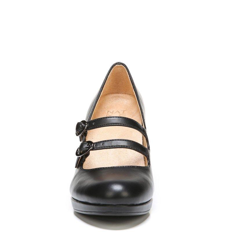 78b4cc4404f9 Naturalizer Women s Prudence Medium Wide Pump Shoes (Black Smooth ...