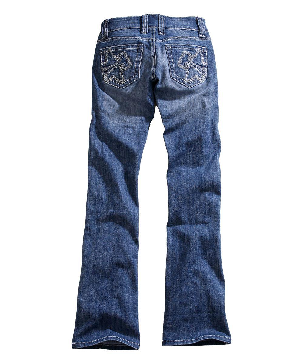 Blue Logo-Pocket Bootcut Jeans - Plus  a6f63fe4ff2b