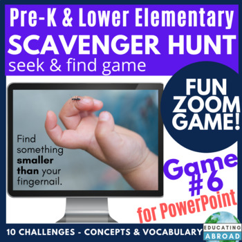 My PreK students love playing this Scavenger Hunt game