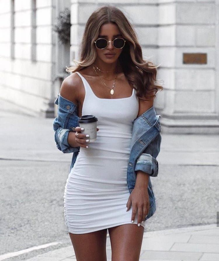Suuuch a look!!!   #fashion #outfit #womanswear #summer #holiday #minidress #denimjacket #sunglasses #style #love #inspo