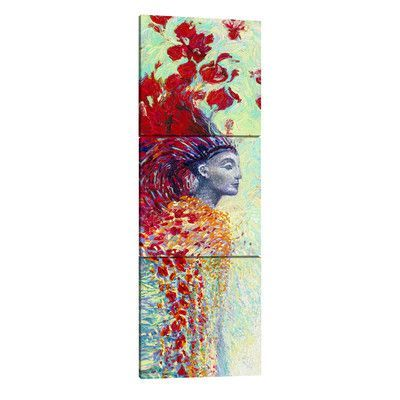 "JaxsonRea ""Egyptian"" by Iris Scott 3 Piece Painting Print on Wrapped Canvas Set Size: 90"" H x 30"" W x 1.5"" D"