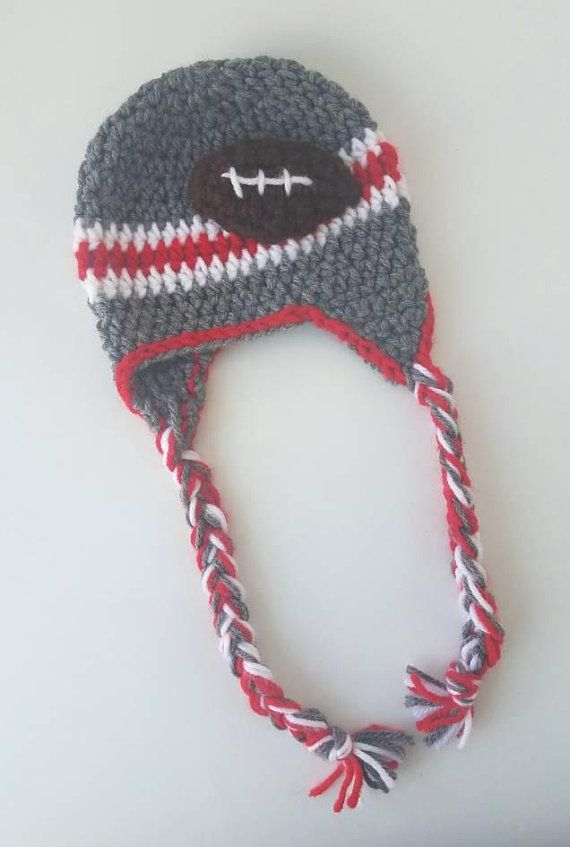 Ohio State Football Hat Crochet-FREE SHIPPING-OSU photo prop- baby ...