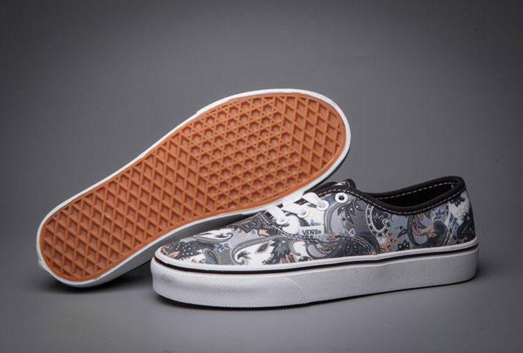 3bfca76ecbb6d2 Vintage Vans Grey Phoenix Themed Skate Shoes  Vans