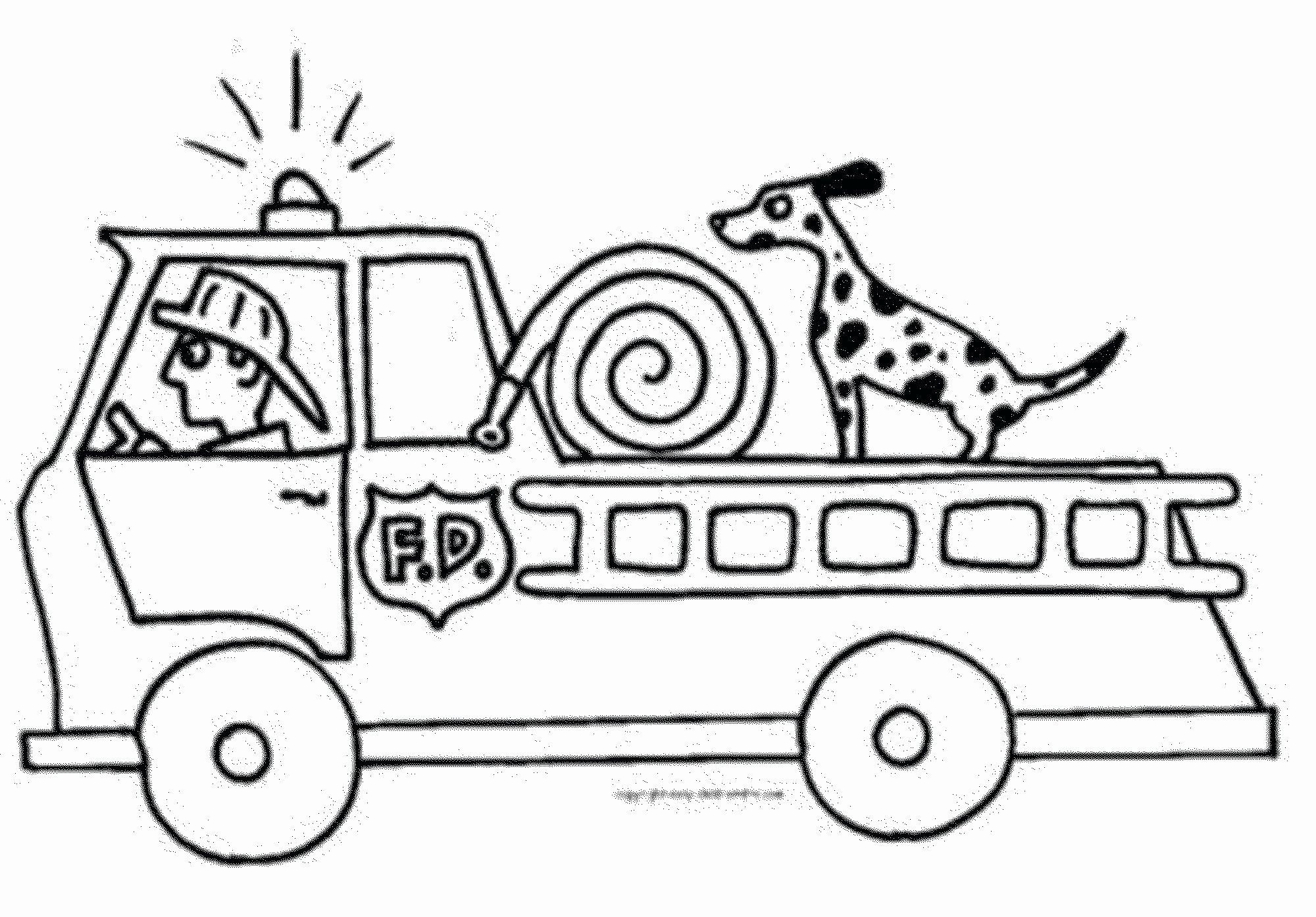 Transportation Coloring Pages For Preschoolers Best Of Fire Truck