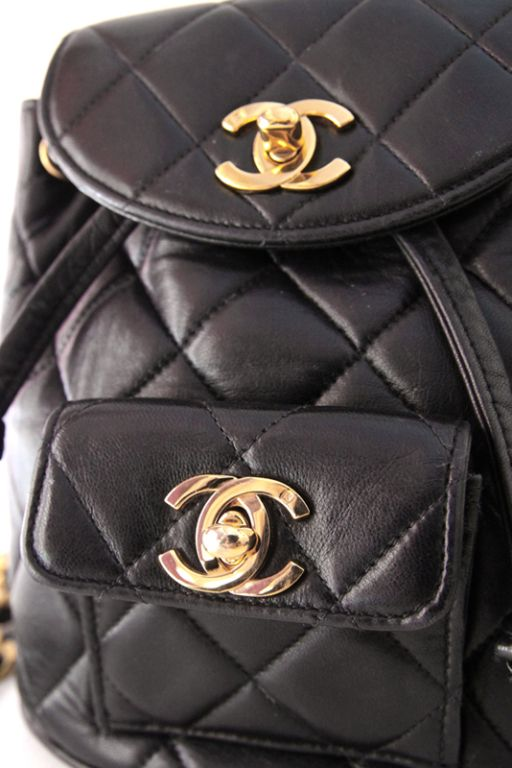 Go Back To School With This Vintage Chanel Backpack Beautiful Handbags Vintage Chanel Chanel Backpack