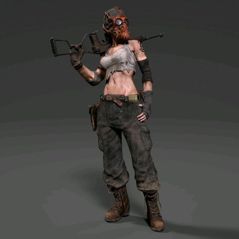 Post Apocalyptic Girl https://www.artstation.com/p/AD0wz Lee JongHeon 3D Character modeler -- Share via Artstation Android App, Artstation © 2017