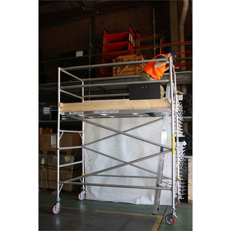 Instant Access 4 0 X 0 7 X 2 5m 225kg Aluminium Mobile Scaffold Tower Scaffolding Tools Lighting