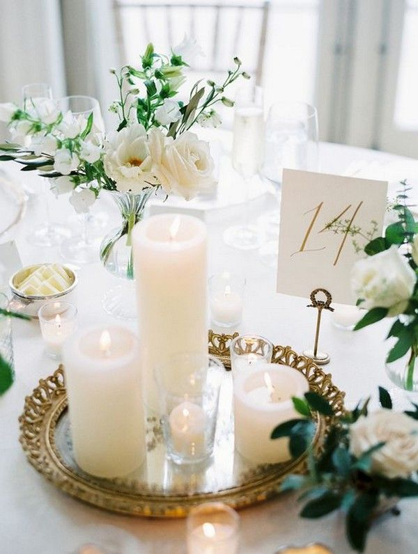 Fesselnd Romantische Kerze Hochzeit Herzstück Ideen