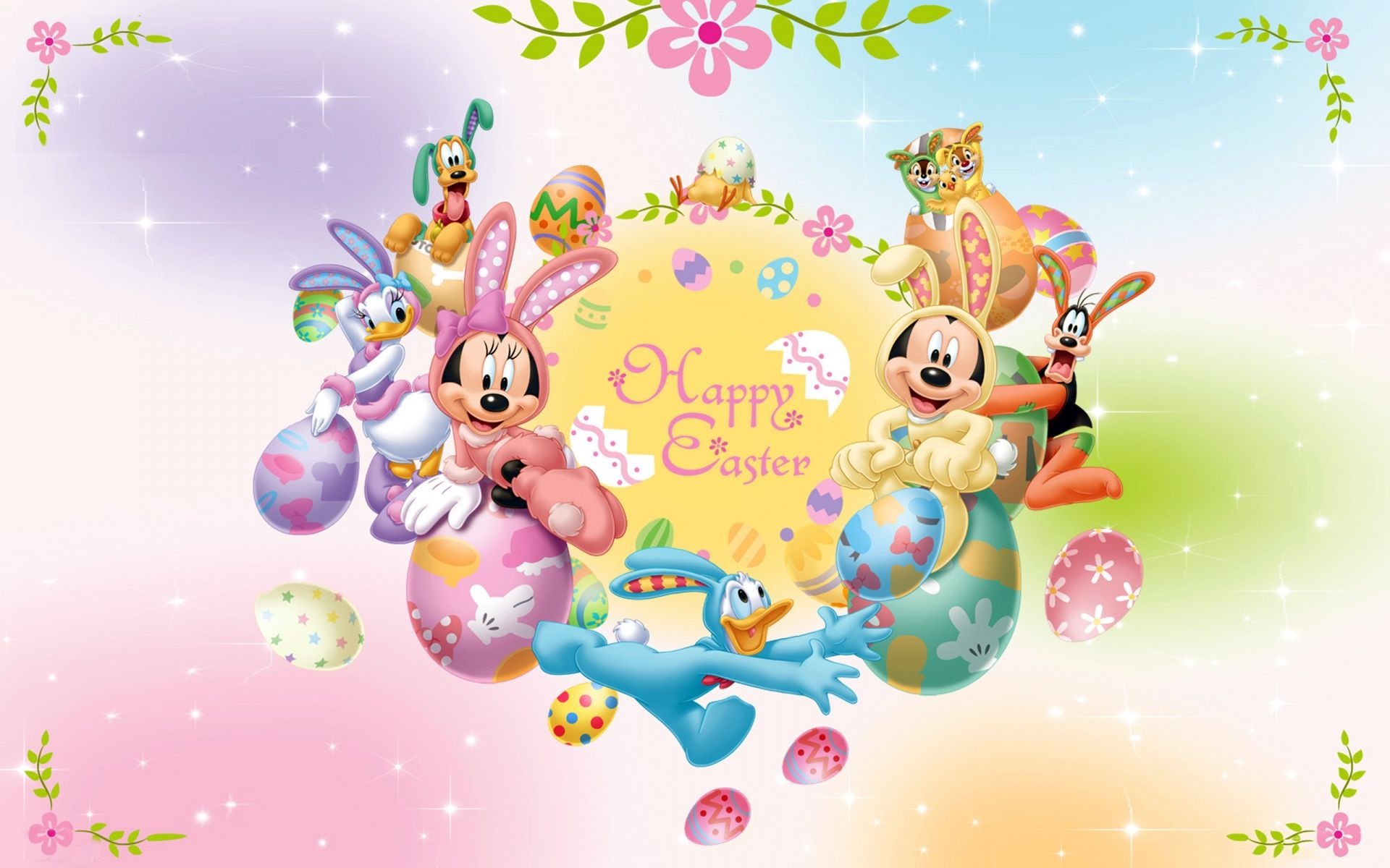 Attirant Happy Easter Mickey Mouse Cartoon Easter 2013 U2013 Free HD Wallpapers