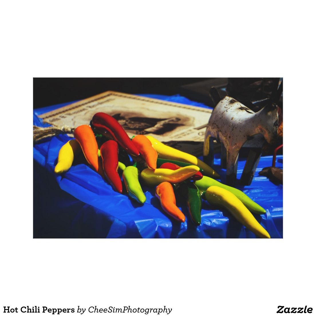 Hot Chili Peppers Gallery Wrap Canvas