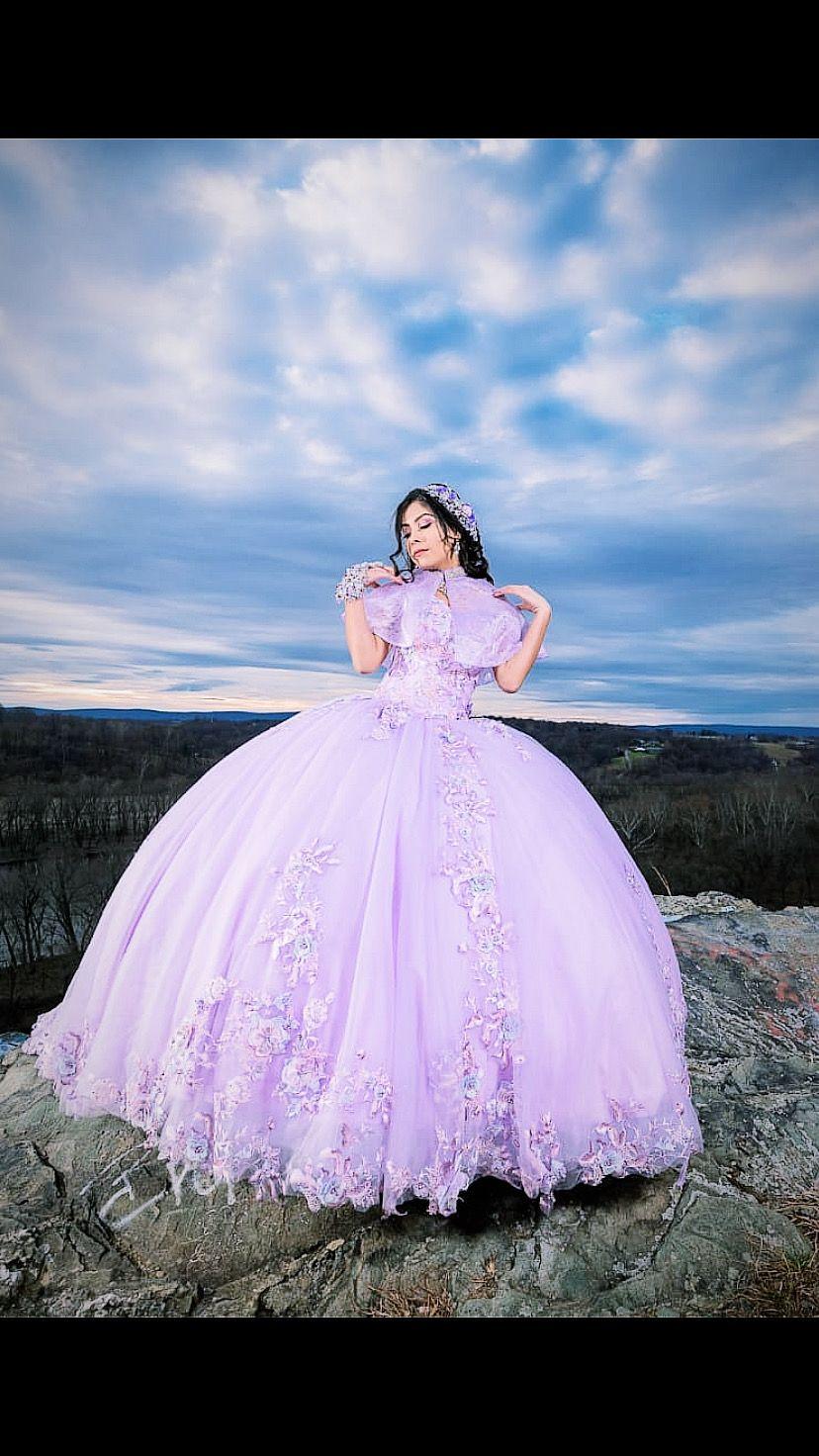 lavender dress quince gowns