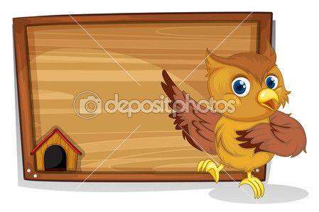 um tabuleiro vazio com uma coruja — Ilustração de Stock #22821418