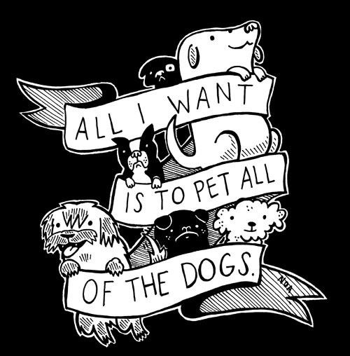 Sticker All I Want Is To Pet All Of The Dogs By Nation Of