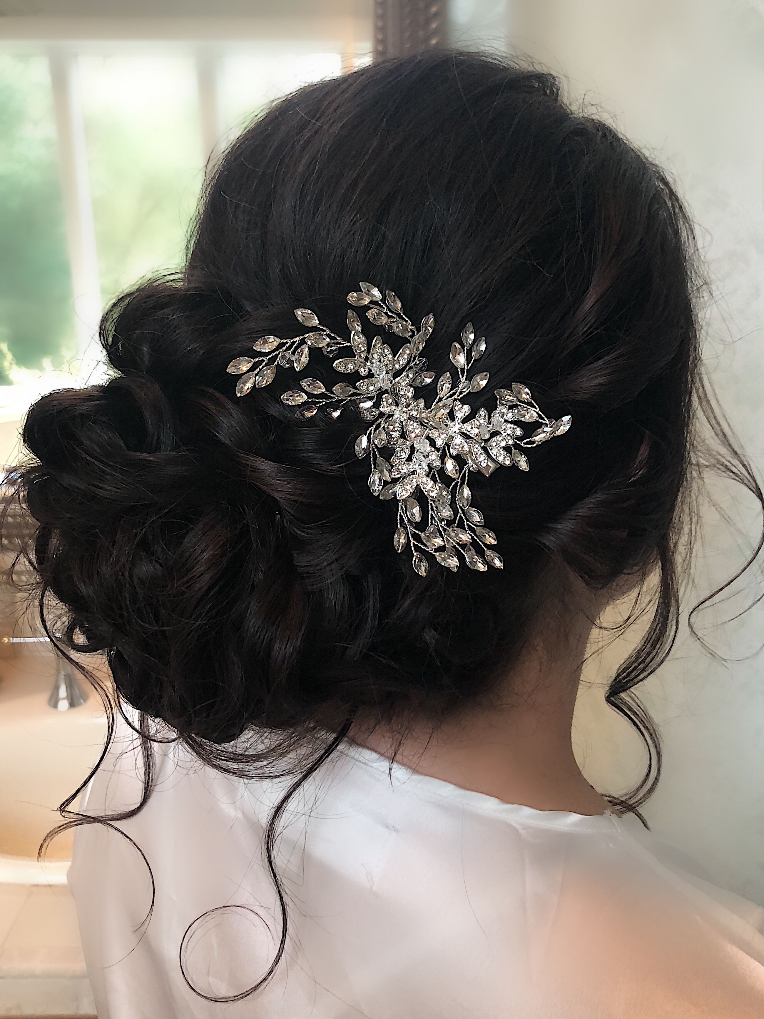 bridal updo with volume and curl big romantic hair bridal
