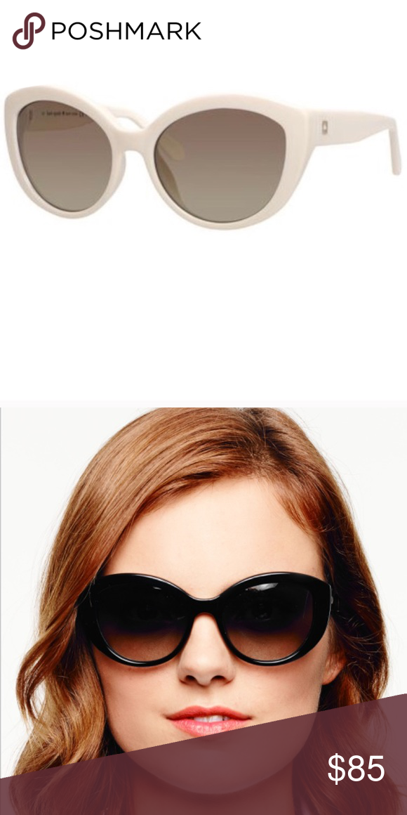 ab3d4dfc109cc Kate Spade Sherrie Cat Eye Sunglasses in White Excellent condition ...