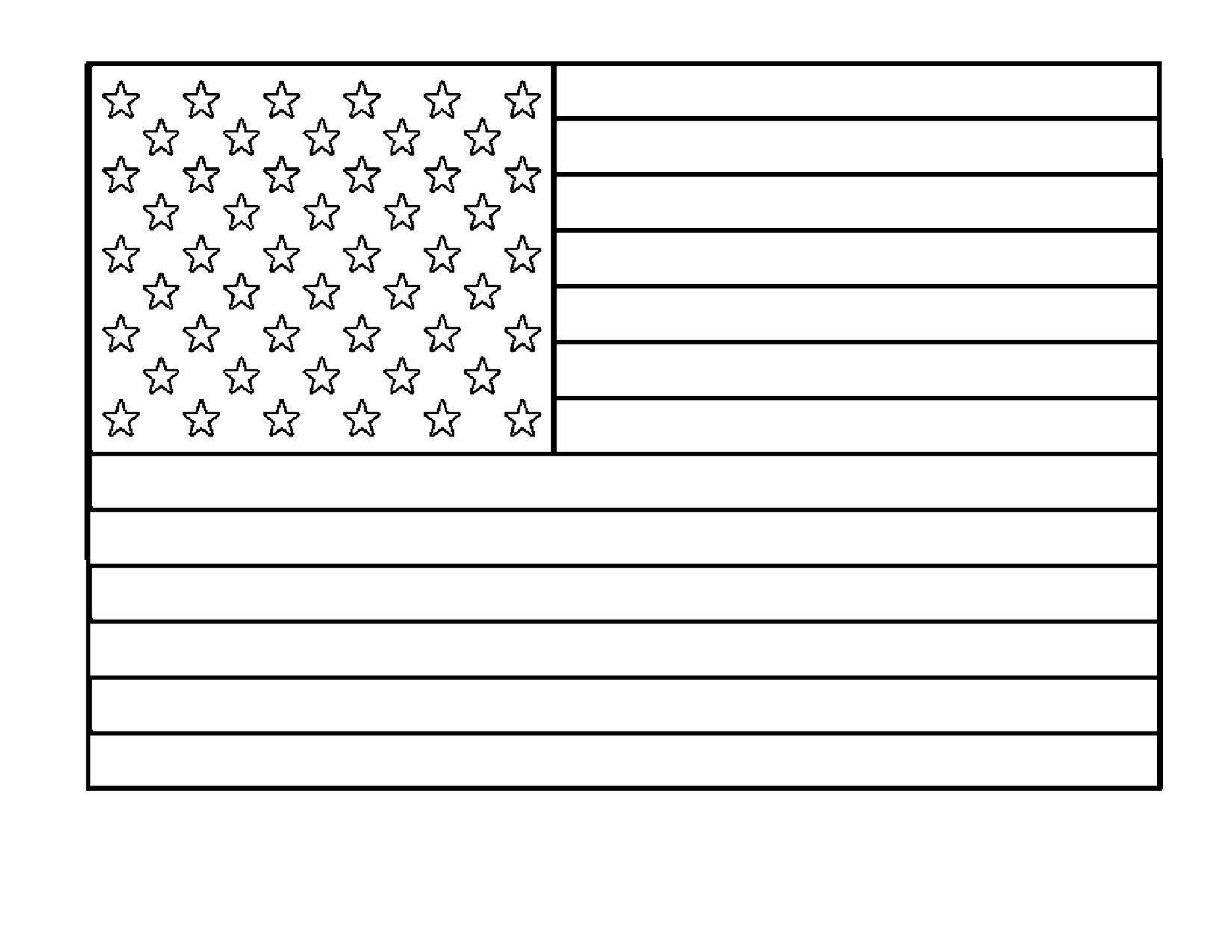 6 American Flag Worksheet Printable In