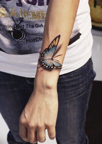 Gorgeous Hand Female Butterfly Tattoos On Arm