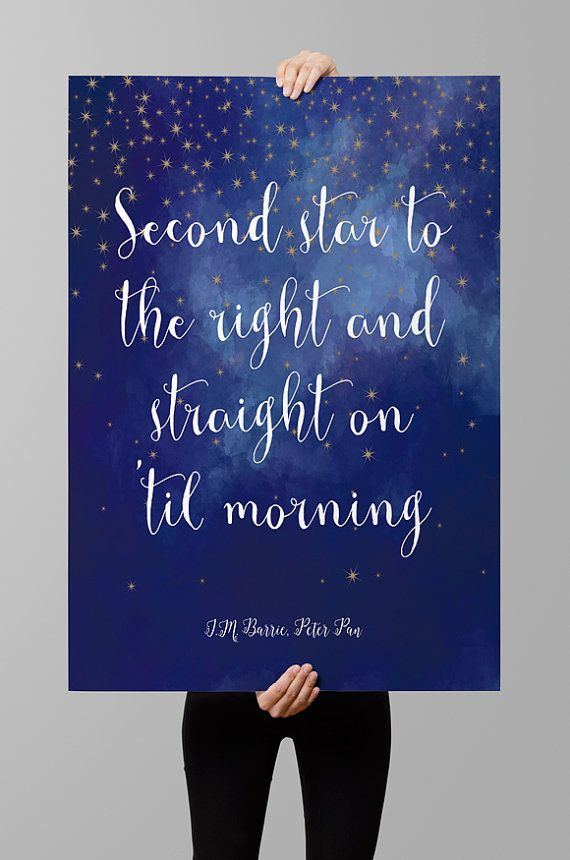 Jm Barrie Quote Peter Pan Quote Instant Download Printable Wall