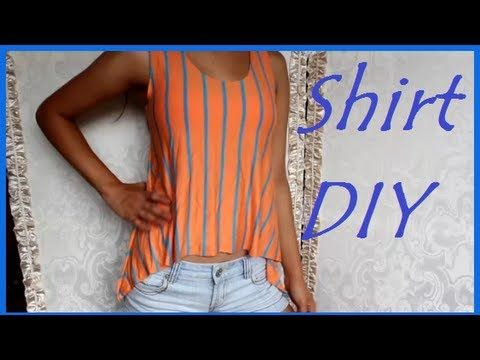3dbfcd1952bcb how to make a blouse sheinside with tables DIY- como hacer una blusa en 20  minutos - YouTube