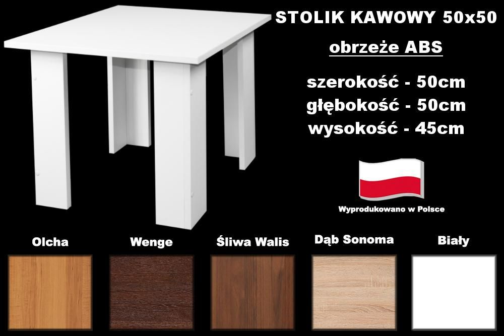 Stolik Lawa Kawowa 50x50 Biala Sonoma Wenge Olcha 5153813676 Oficjalne Archiwum Allegro Allegro