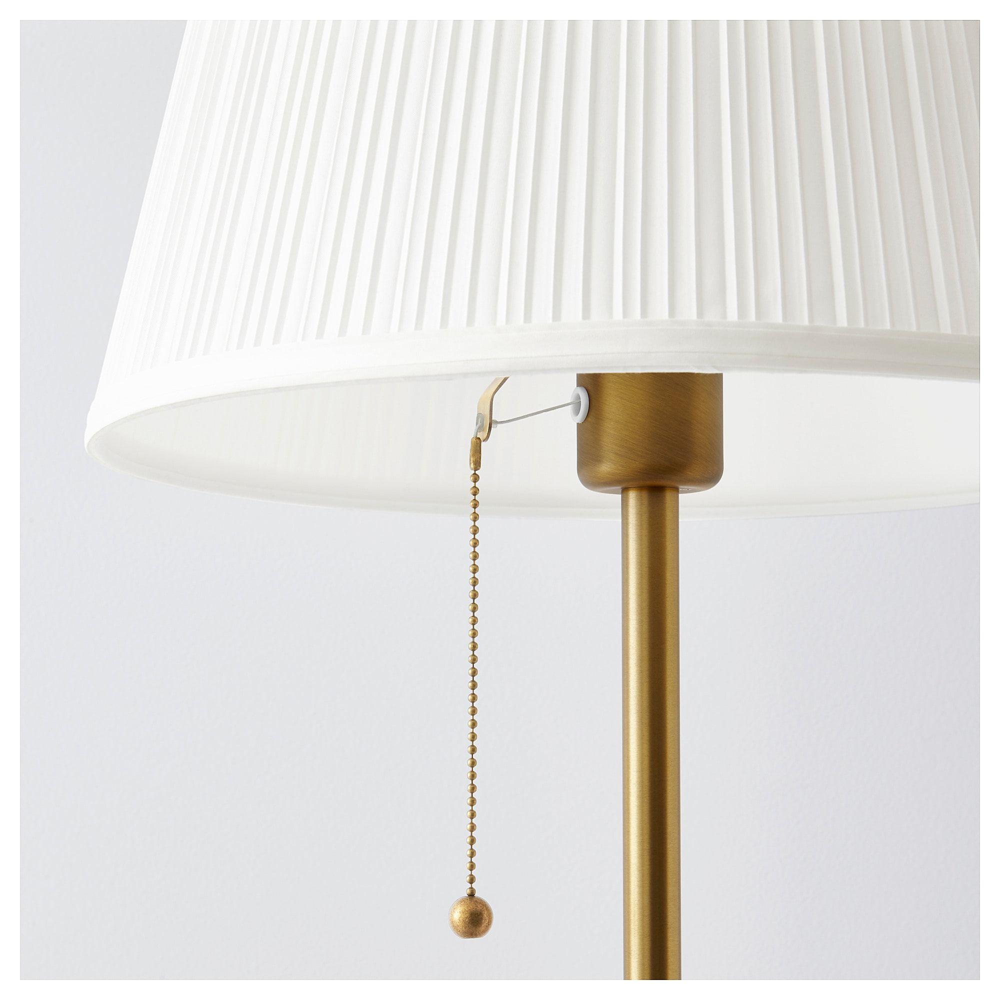 IKEA ÅRSTID Floor lamp brass, white | Lampe sur pied