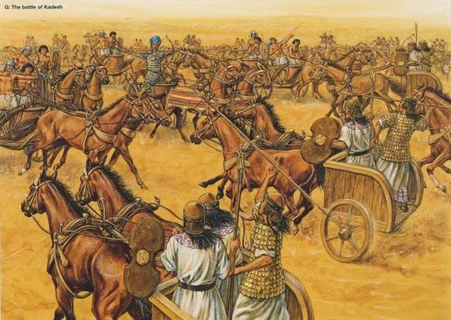 Battle of Kadesh 1274 BC Egyptians vs Hittites | Battle of kadesh, Ancient  warriors, Ancient egypt history