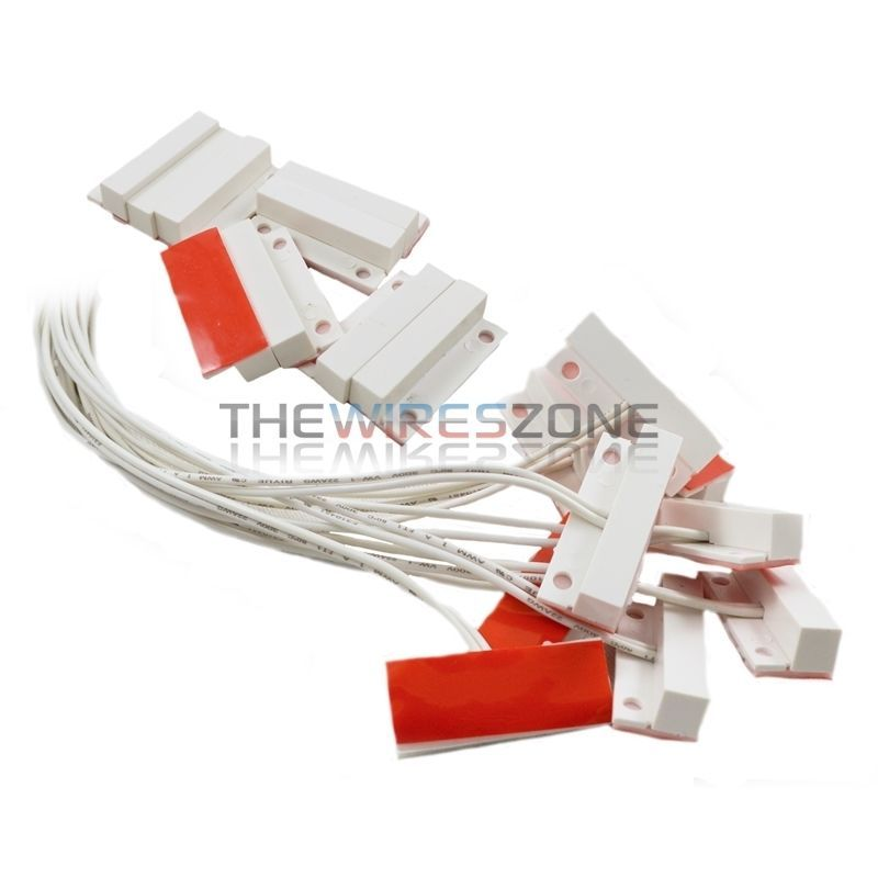 50 Pack White Door Window Security Alarm Contact Surface Reed Home Switch Sensor Home Switch Window Security White Doors