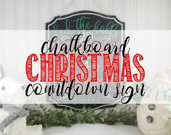 Chalkboard Christmas Countdown Sign BURTION AVE 25 DAYS OF