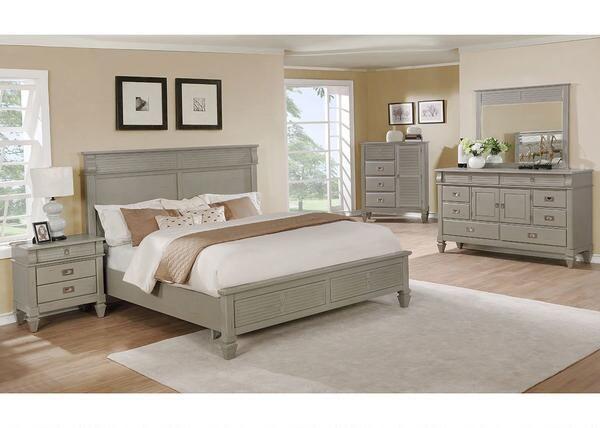 Carlton Gray 7 Pc Queen Bedroom Was $1,77993 Sale $1,57524