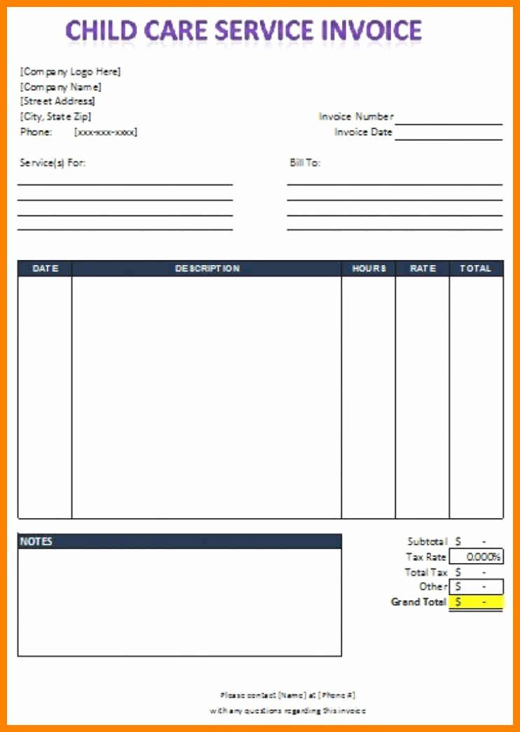 Child Care Invoice Template Inspirational Child Care Invoice Template Excel Most Effective Ways Invoice Template Word Invoice Template Invoice Design Template