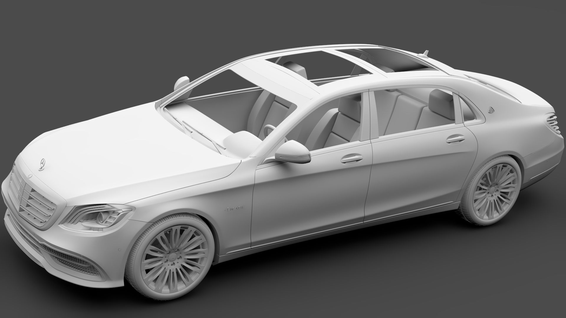 Mercedes Maybach S 560 4Matic X222 2018 Pallet wood