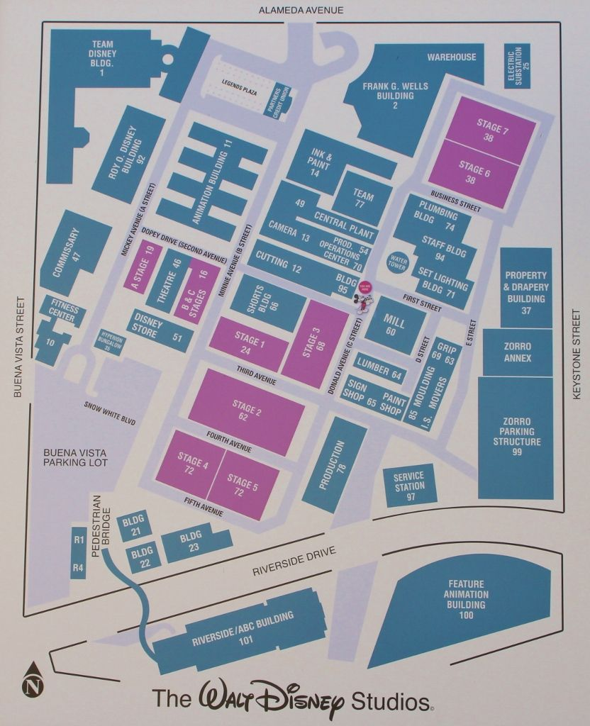 397e5f0997 2013 PNW Mouse Treks Walt Disney Studios Tour - Map of Studios Lot ...
