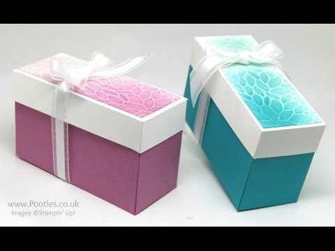 Sponged & Dry Embossed Lidded Box - YouTube