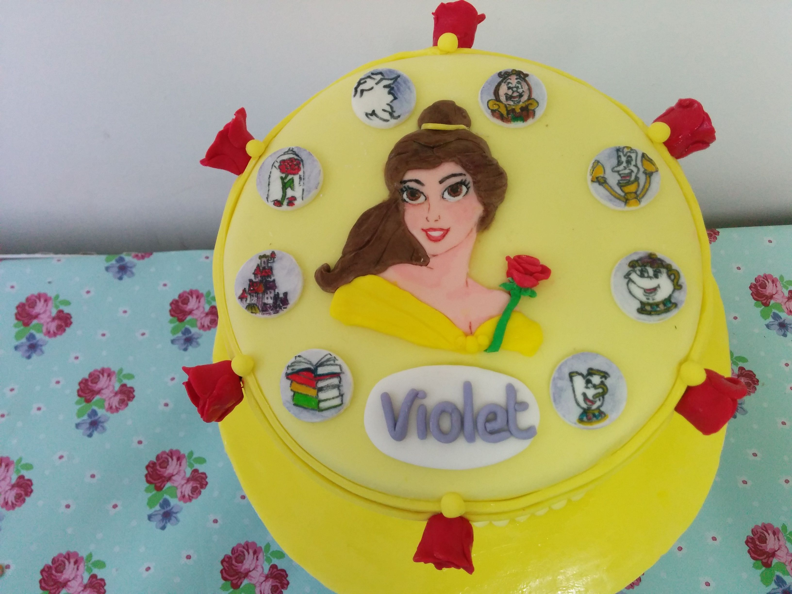 Beauty and the Beast Birthday Cake Belle BeautyandtheBeast www