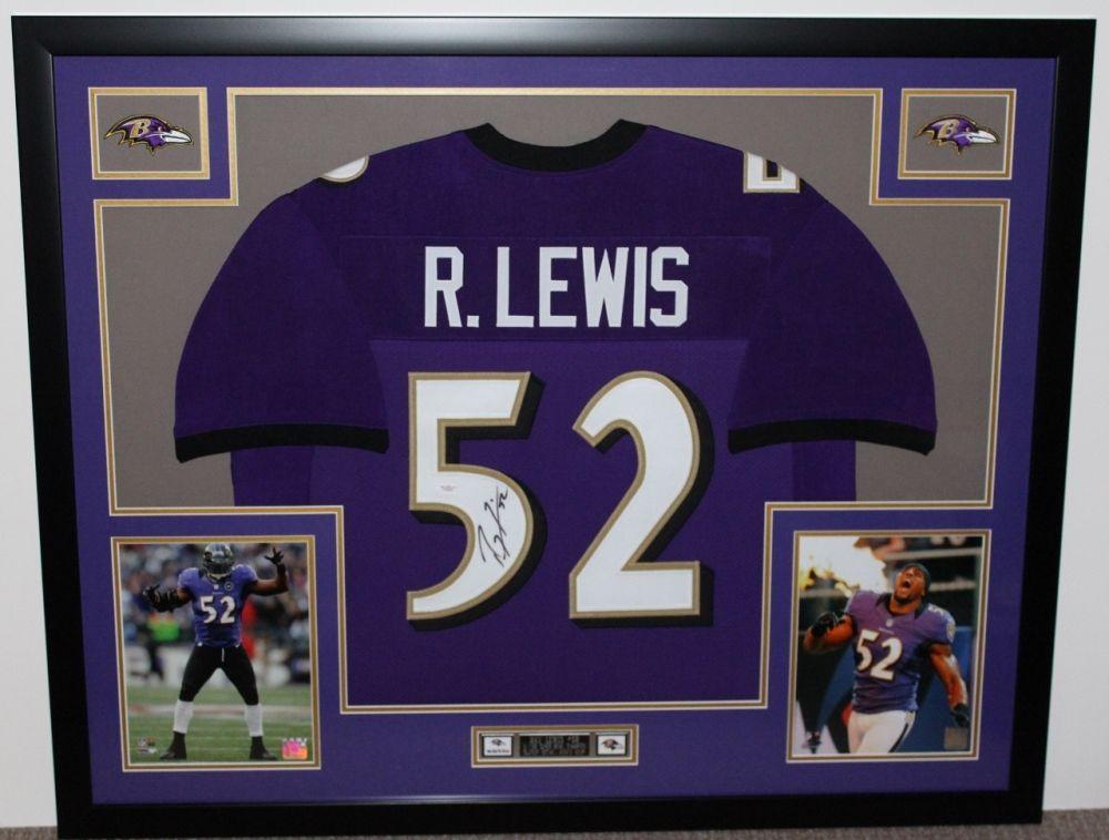 Ray Lewis Signed Ravens 35